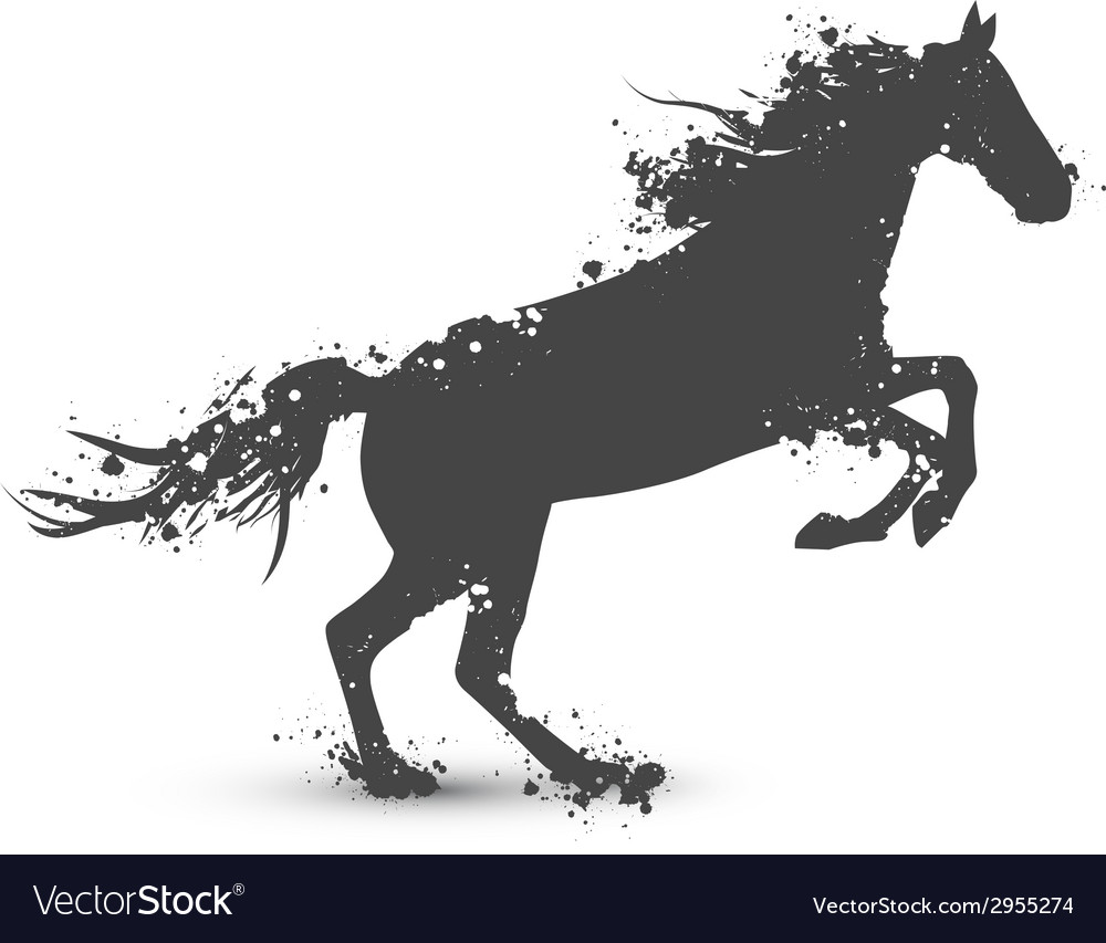 Abstract ink splashes horse vector | Price: 1 Credit (USD $1)
