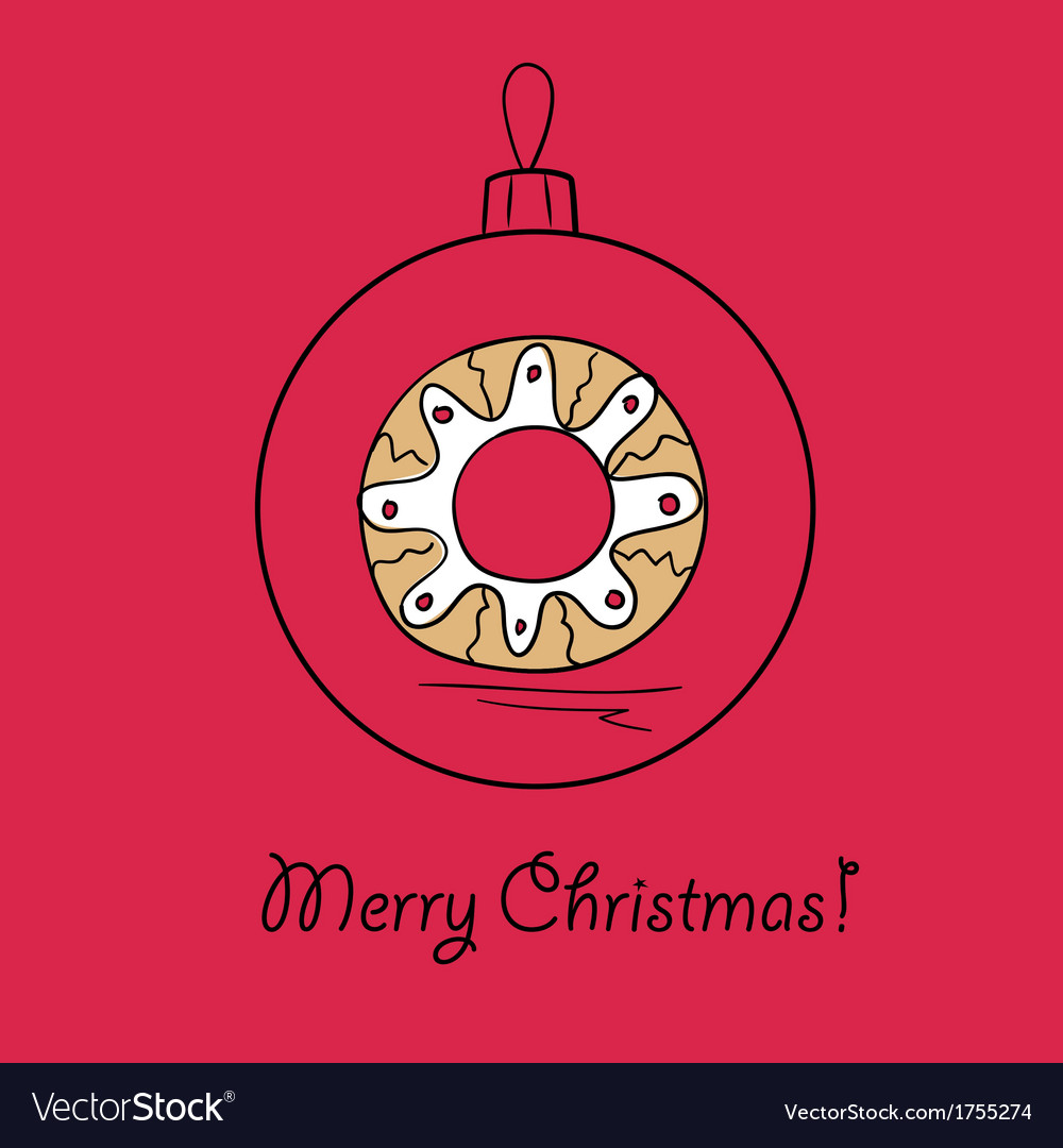 Ball with christmas wreath vector | Price: 1 Credit (USD $1)