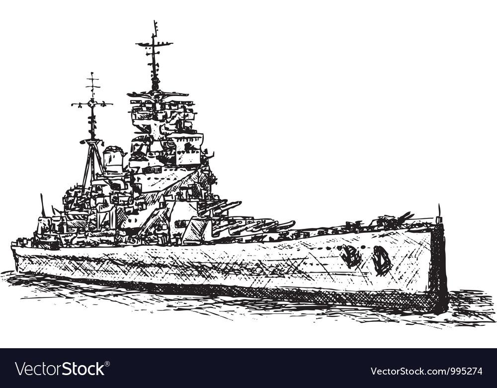 Battle ship vector | Price: 1 Credit (USD $1)