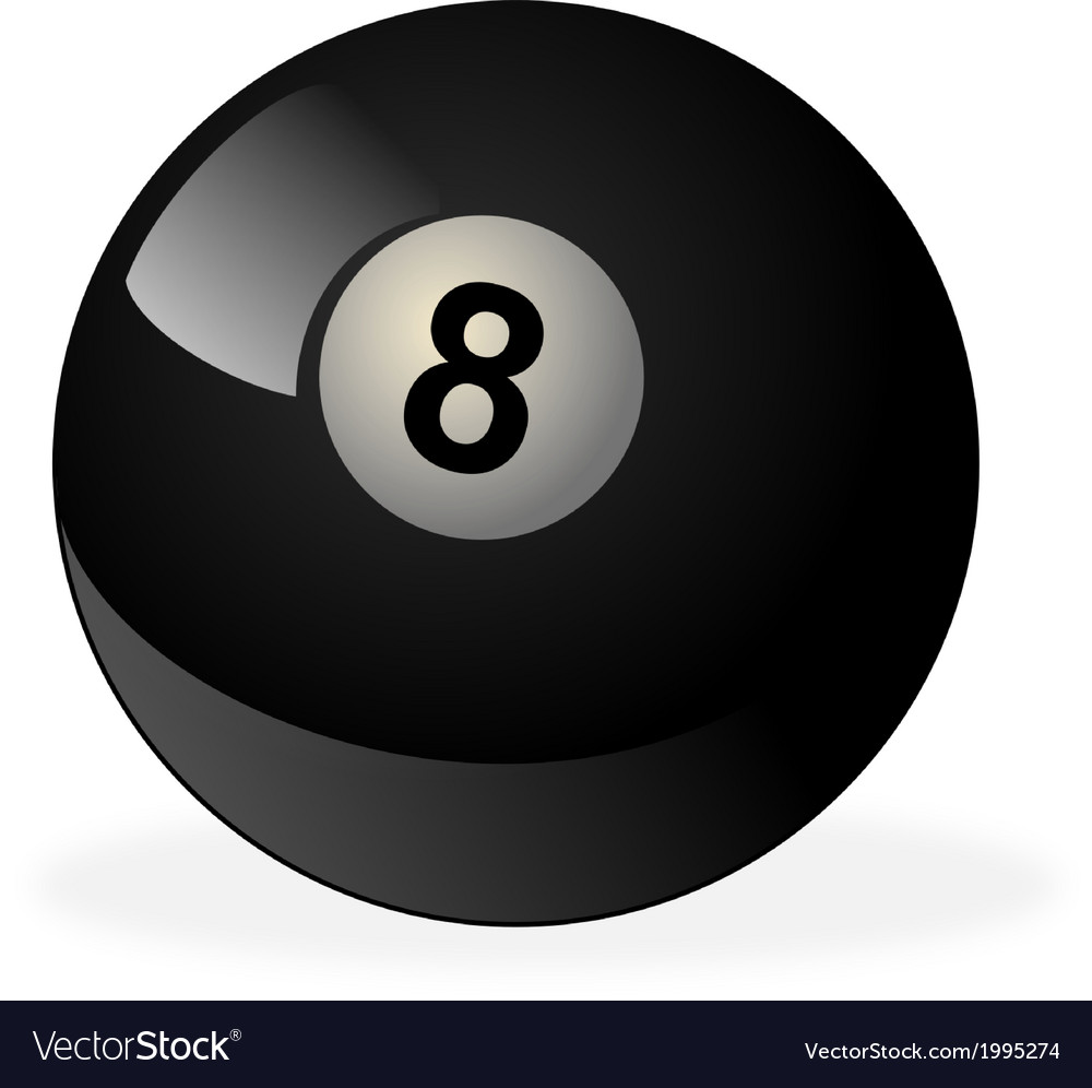 Black billiard ball number 8 vector | Price: 1 Credit (USD $1)