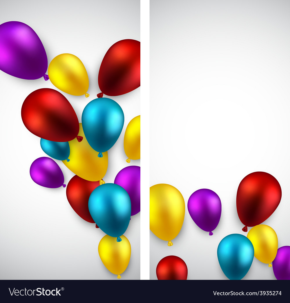 Celebrate banners with balloons vector   Price: 1 Credit (USD $1)