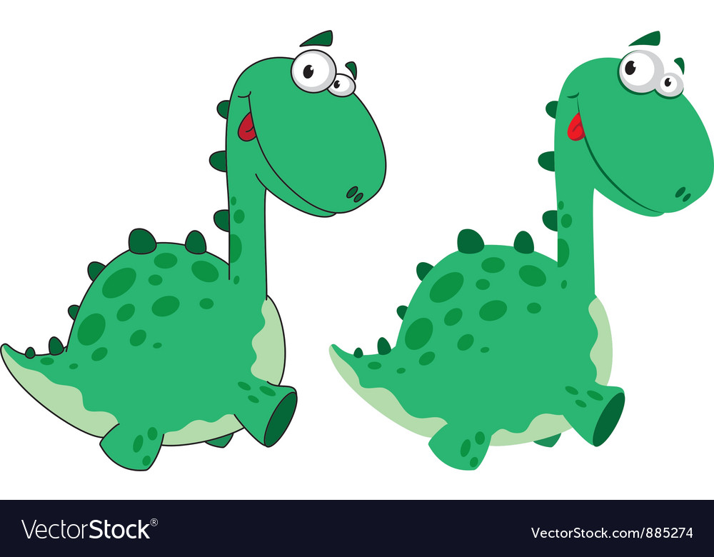 Cute dino cartoon vector | Price: 3 Credit (USD $3)