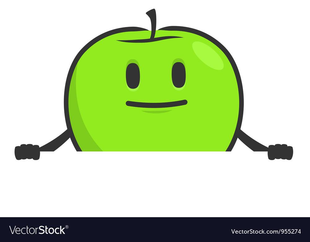 Funny cartoon apple vector | Price: 1 Credit (USD $1)