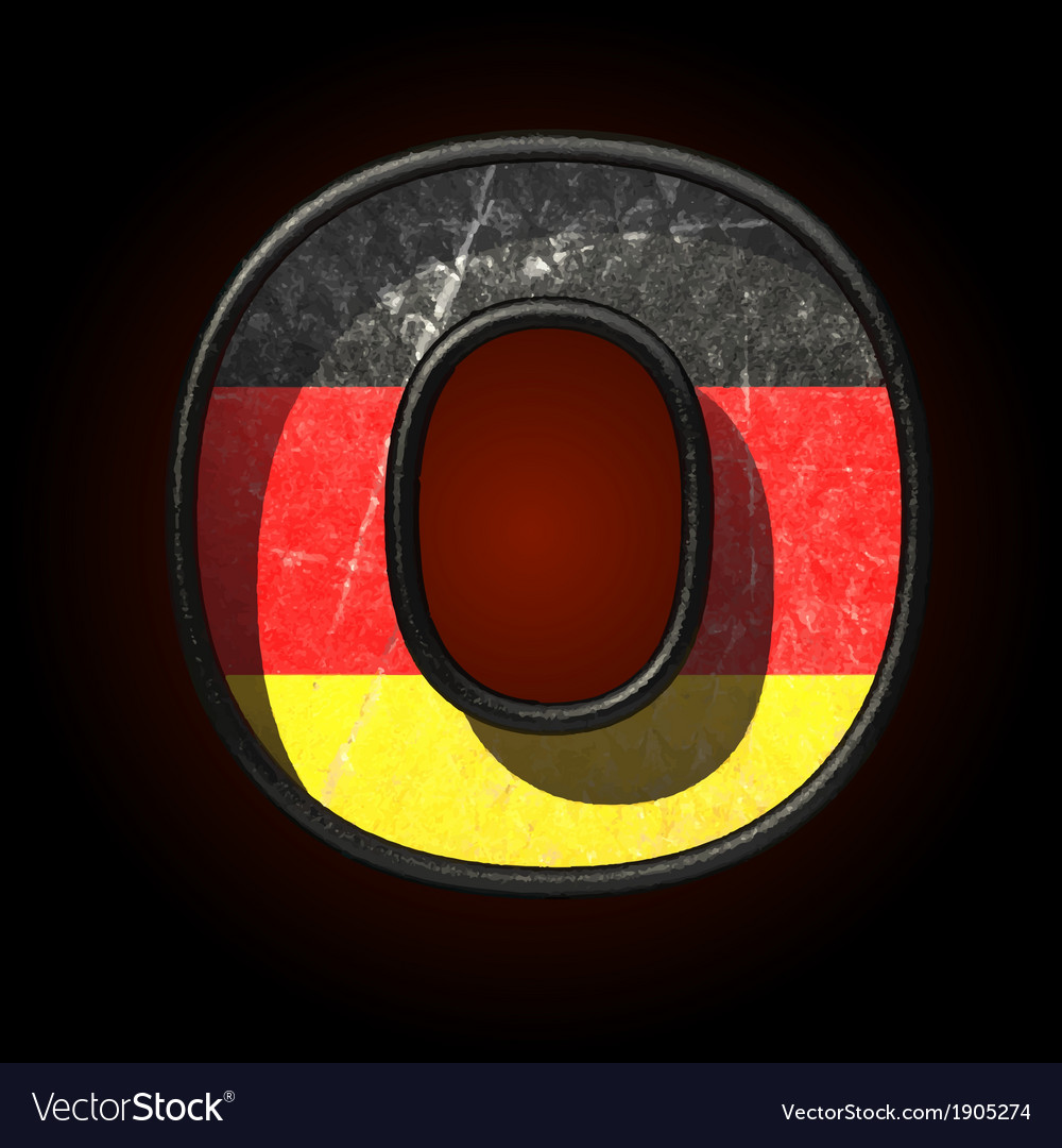 Germany cutted figure o vector | Price: 1 Credit (USD $1)