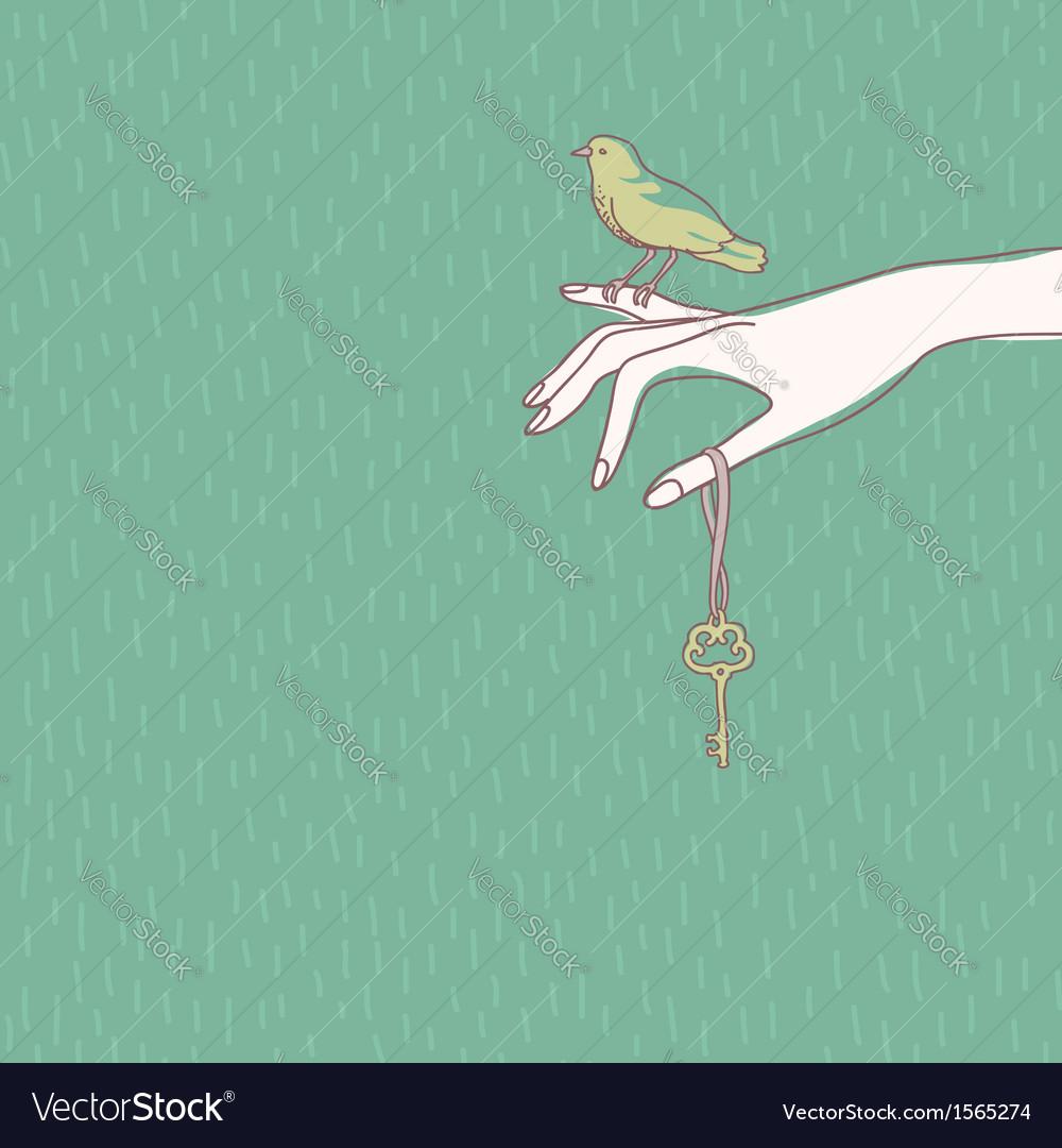 Hand bird vector | Price: 1 Credit (USD $1)