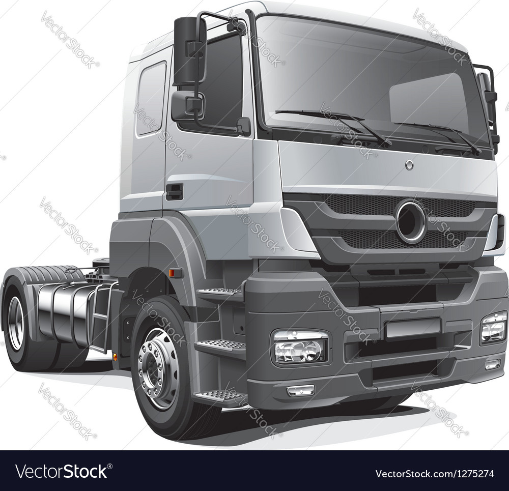 Heavy tractor unit vector | Price: 5 Credit (USD $5)