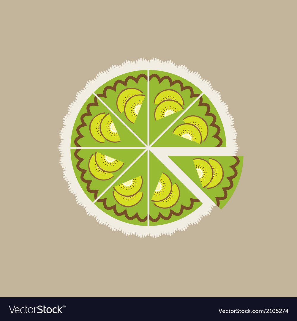 Kiwi cake vector | Price: 1 Credit (USD $1)