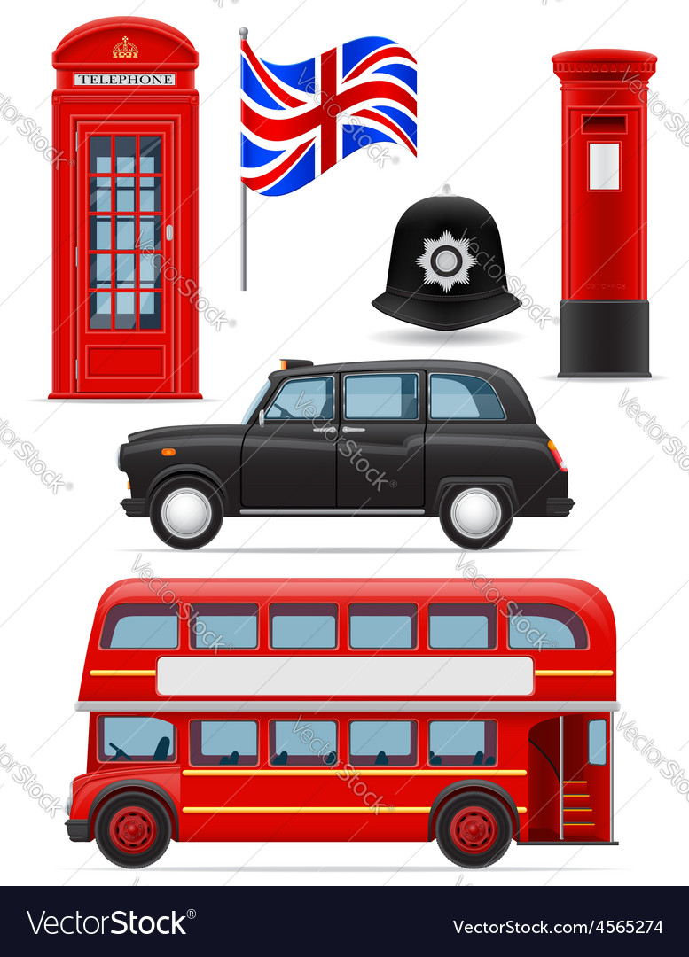 London set icons vector | Price: 3 Credit (USD $3)