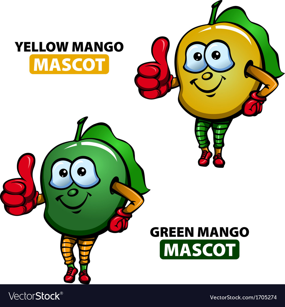 Mango mascot vector | Price: 1 Credit (USD $1)