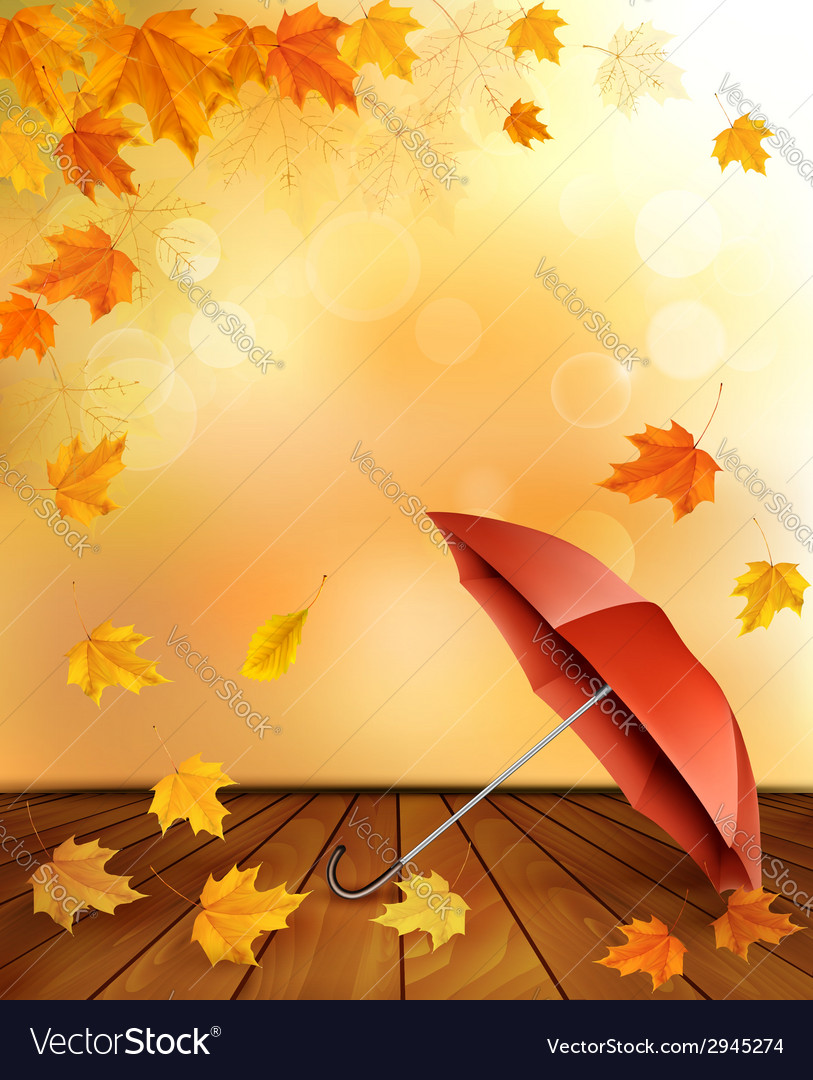 Retro autumn background with colorful leaves and vector | Price: 1 Credit (USD $1)