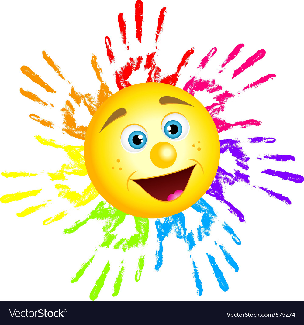 Sun hand prints vector | Price: 1 Credit (USD $1)