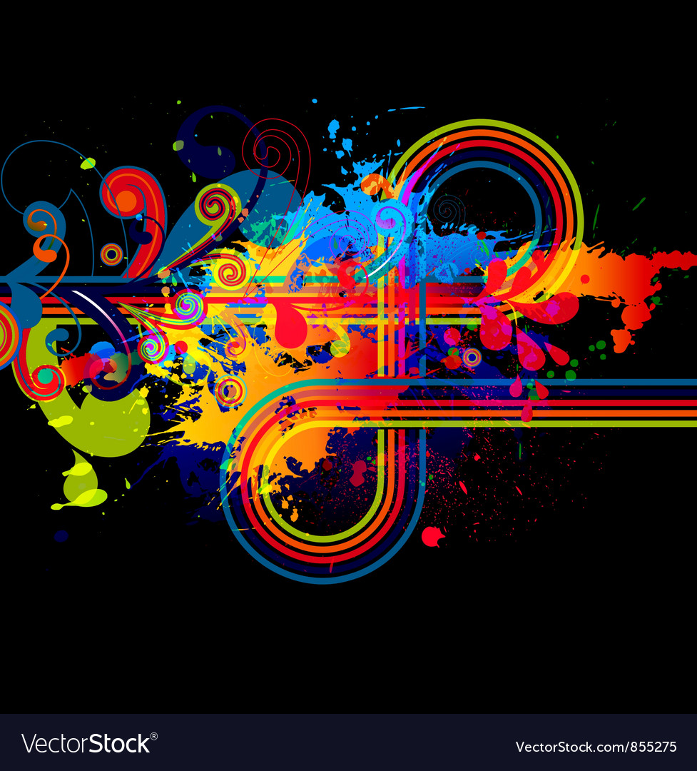 Abstract with colorful splatter vector | Price: 1 Credit (USD $1)