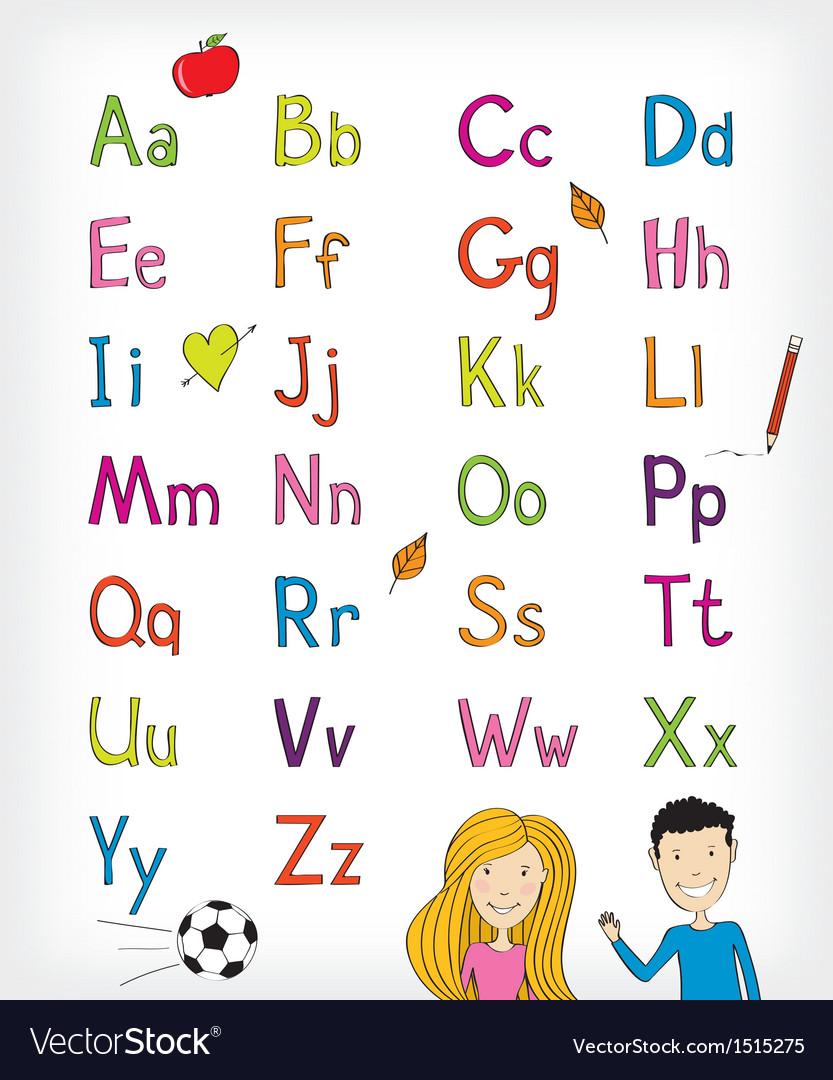 Alphabet set vector | Price: 1 Credit (USD $1)