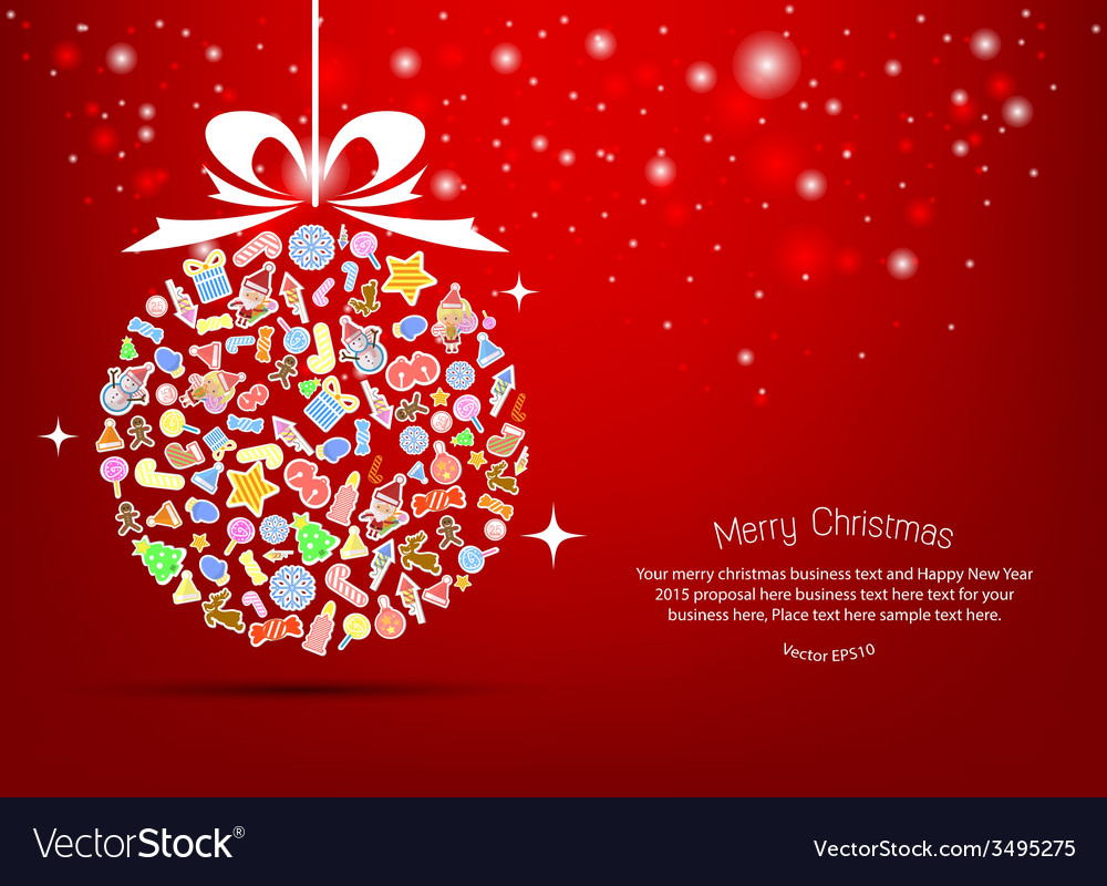 Christmas tree icon for christmas card vector | Price: 1 Credit (USD $1)