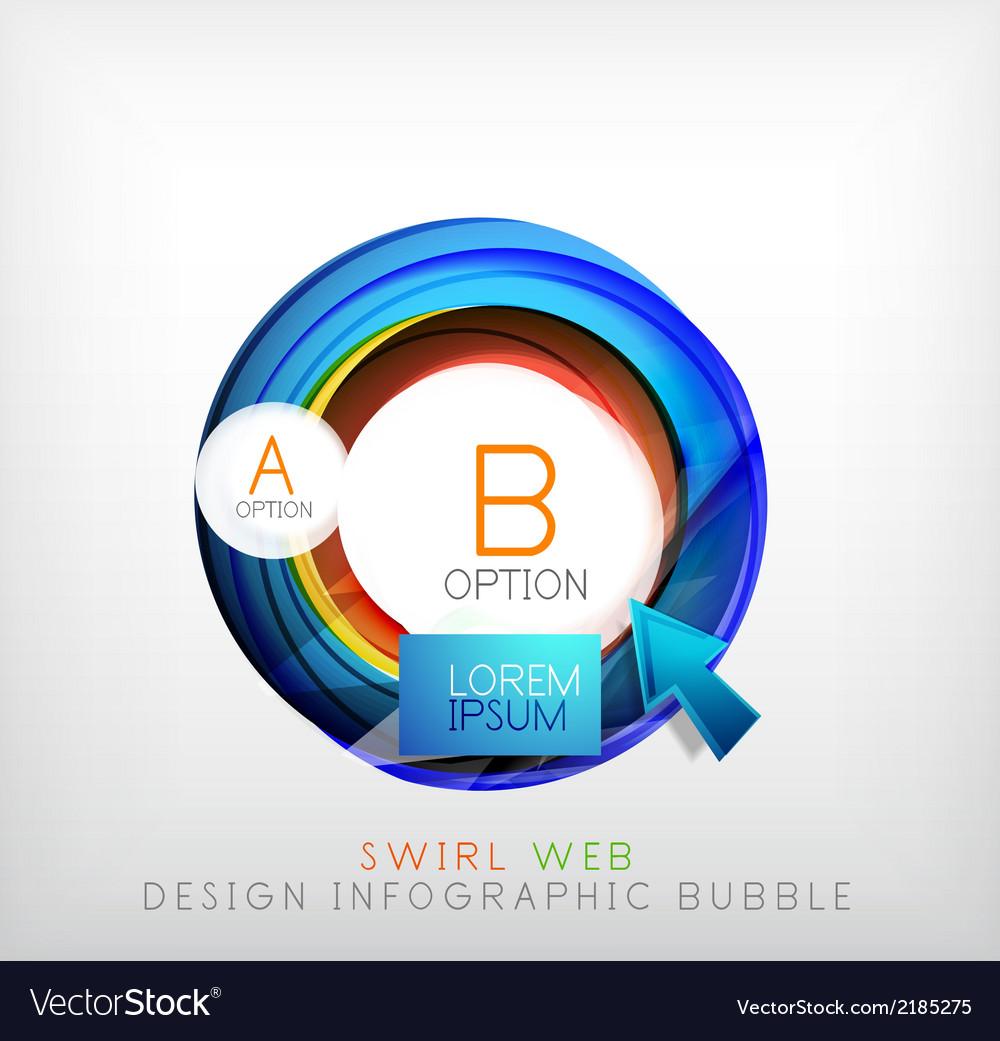 Circle web design bubble  infographic elements vector | Price: 1 Credit (USD $1)