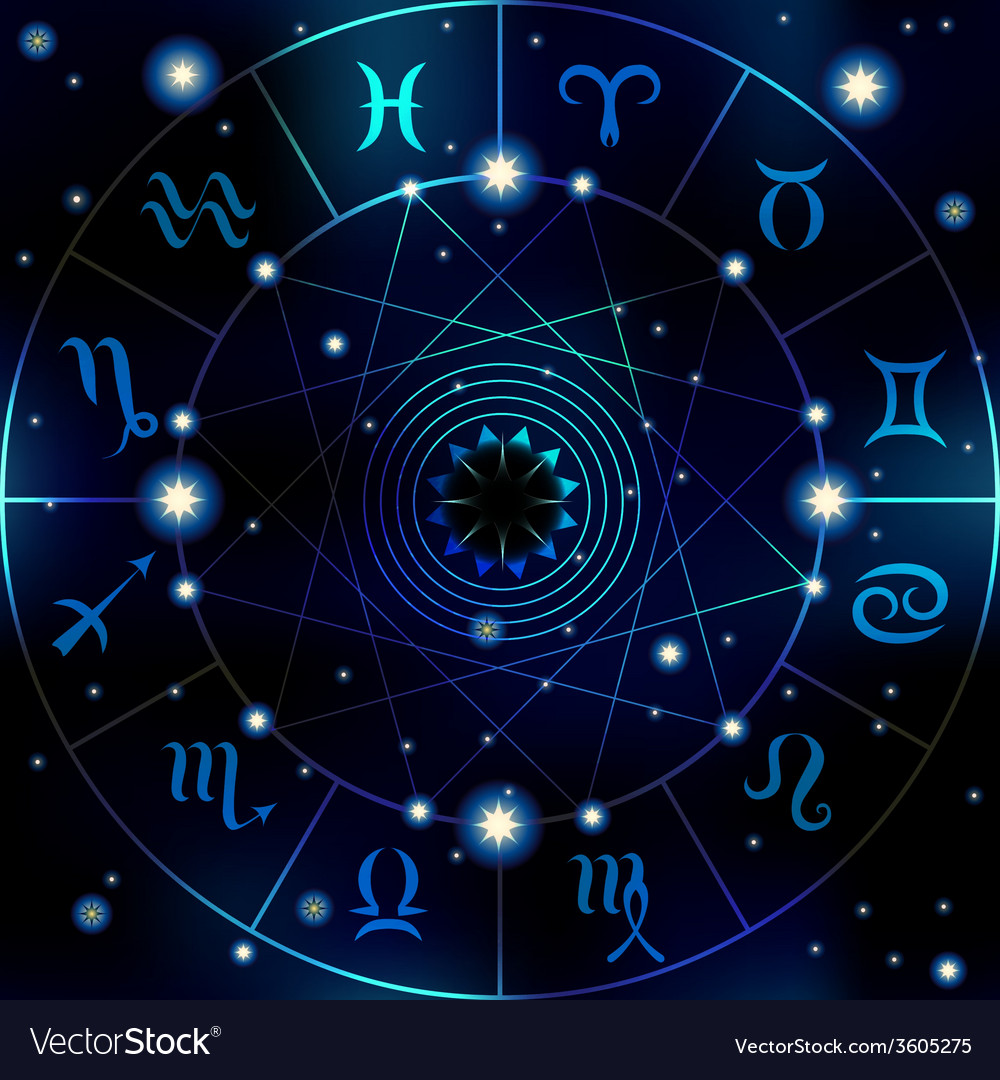 Circle with signs of zodiac vector | Price: 1 Credit (USD $1)