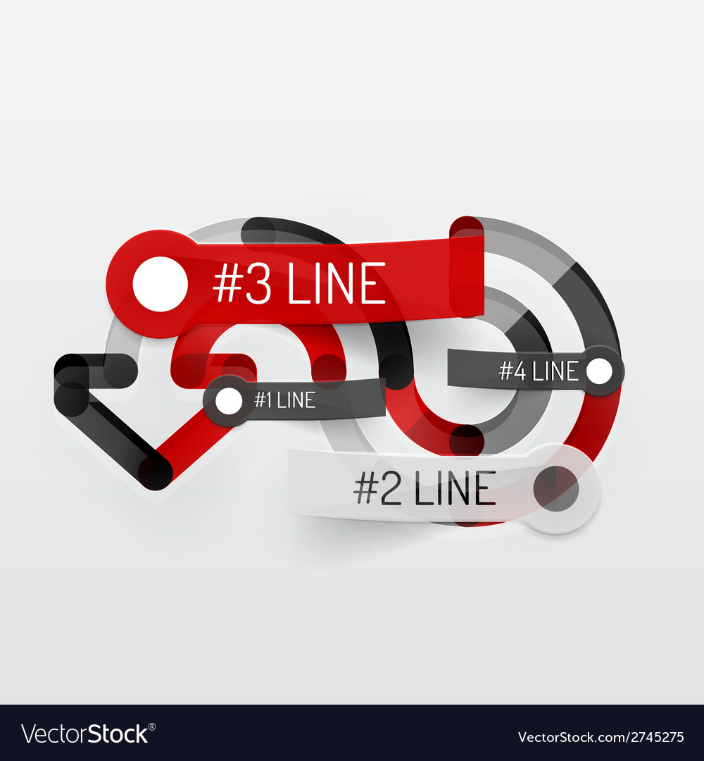 Embossed minimal style line diagram and stickers vector | Price: 1 Credit (USD $1)