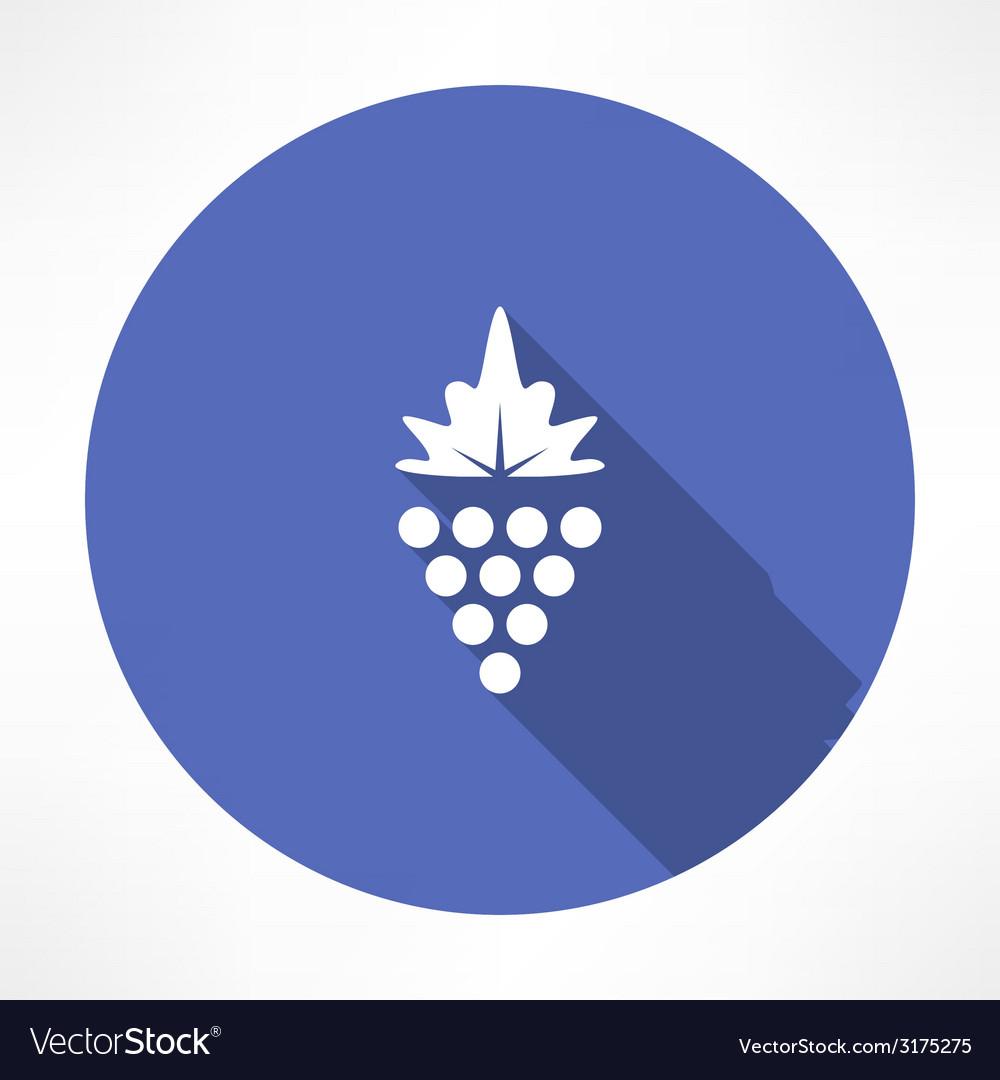Grapes icon vector | Price: 1 Credit (USD $1)