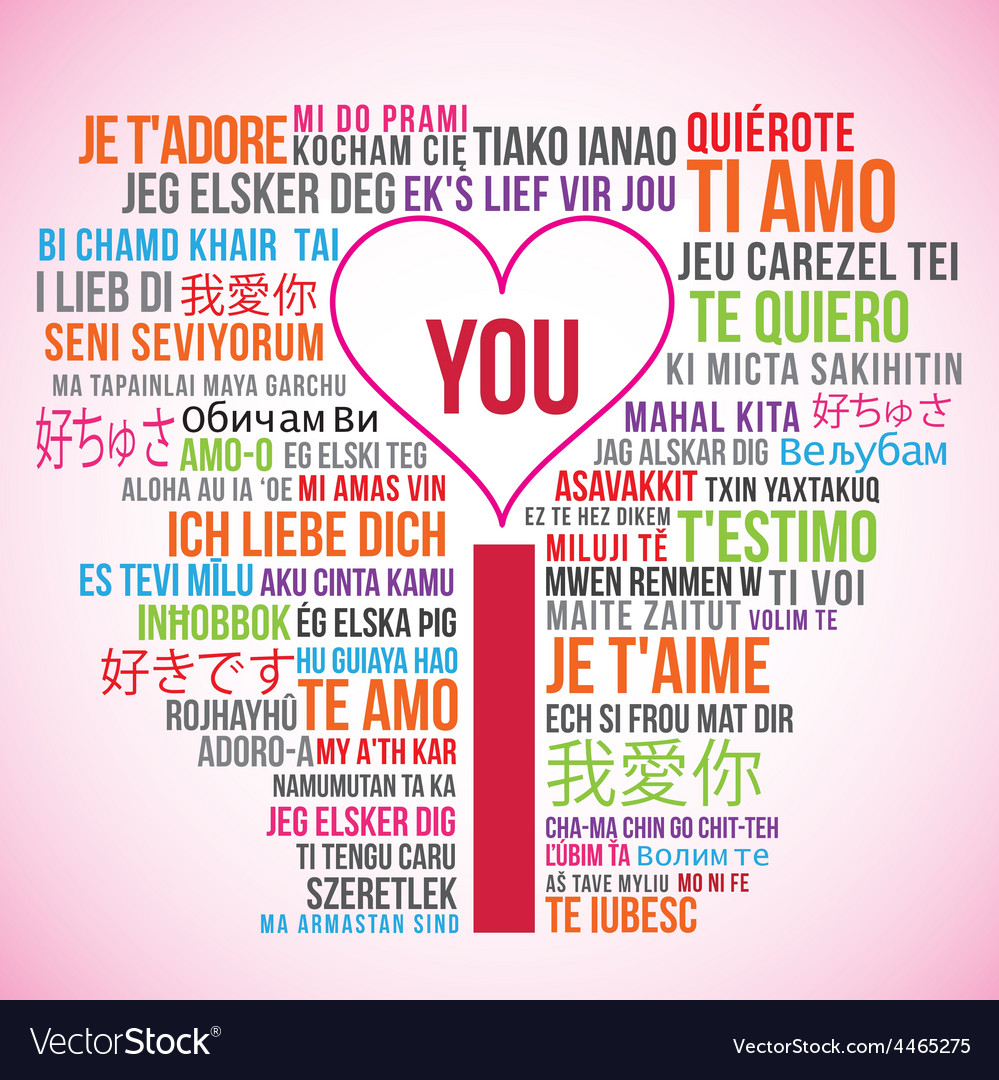 I love you translations vector   Price: 1 Credit (USD $1)