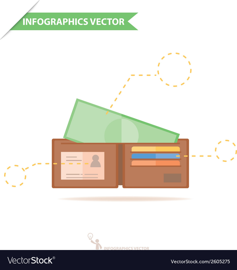 Infographics walletandmoney vector | Price: 1 Credit (USD $1)