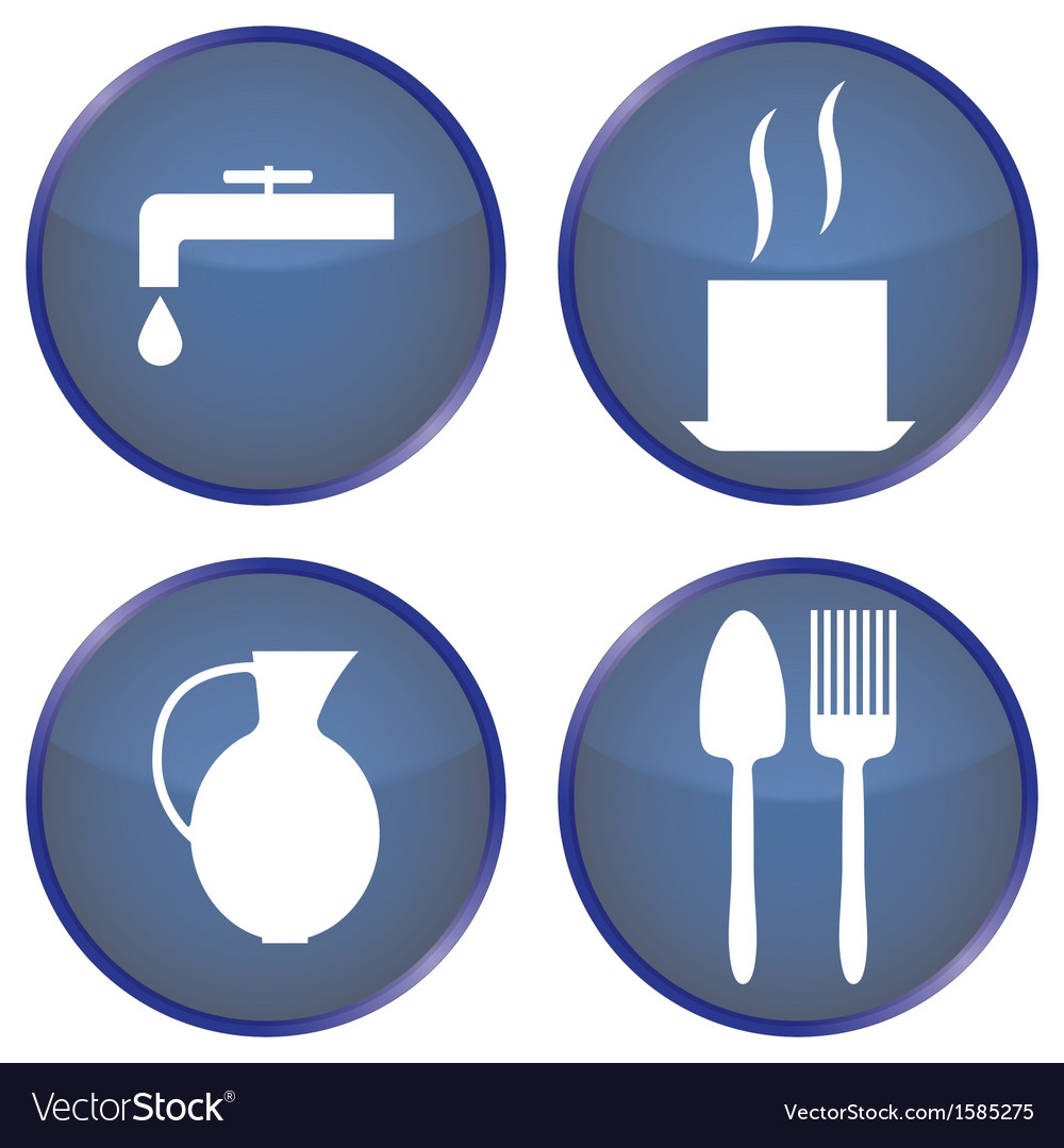 Round blue buttons for dining vector | Price: 1 Credit (USD $1)