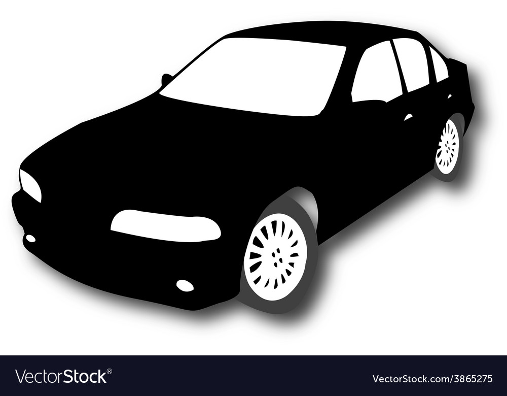 Silhouette of car vector | Price: 1 Credit (USD $1)