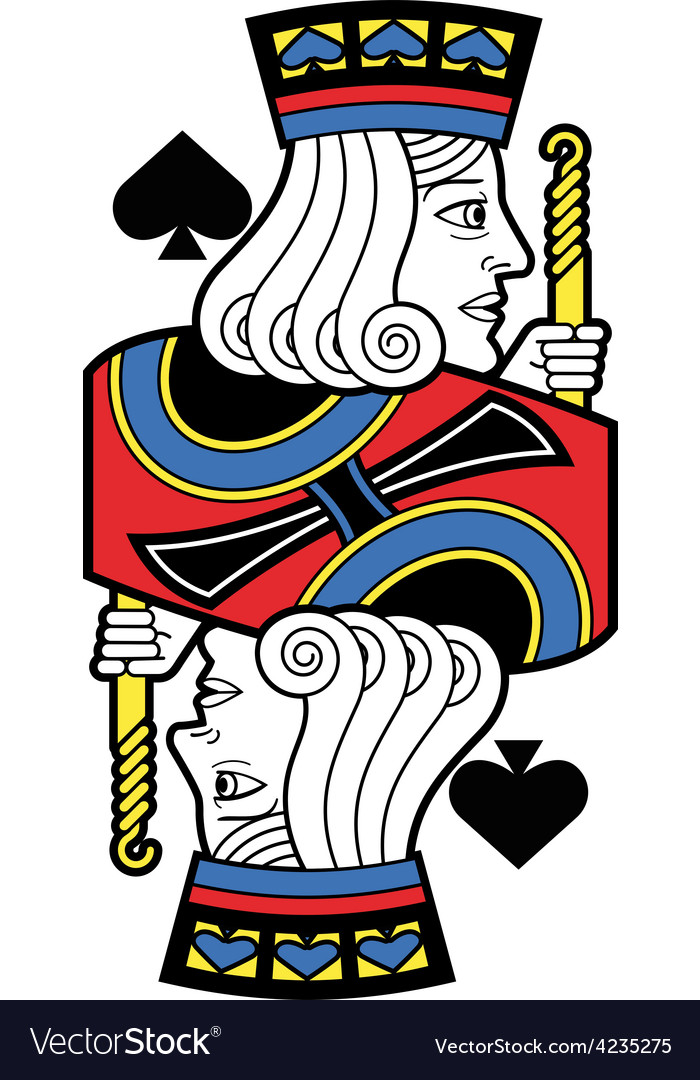 Stylized jack of spades no card vector | Price: 1 Credit (USD $1)