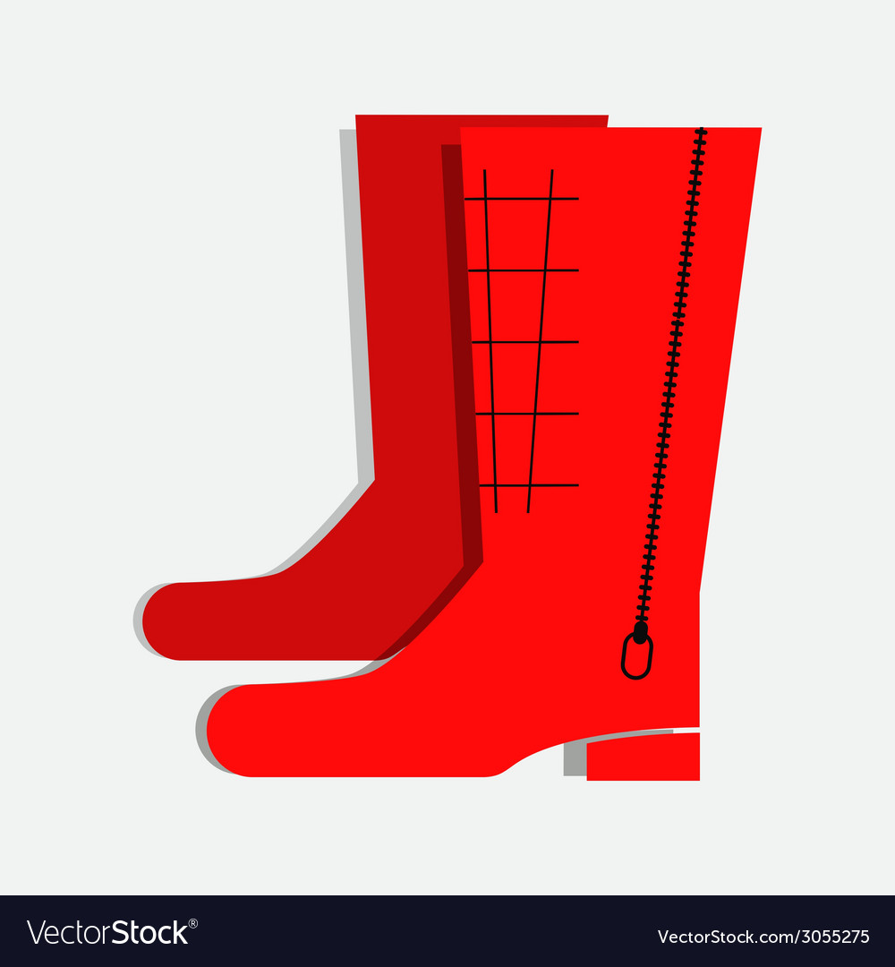 Winter boots vector | Price: 1 Credit (USD $1)