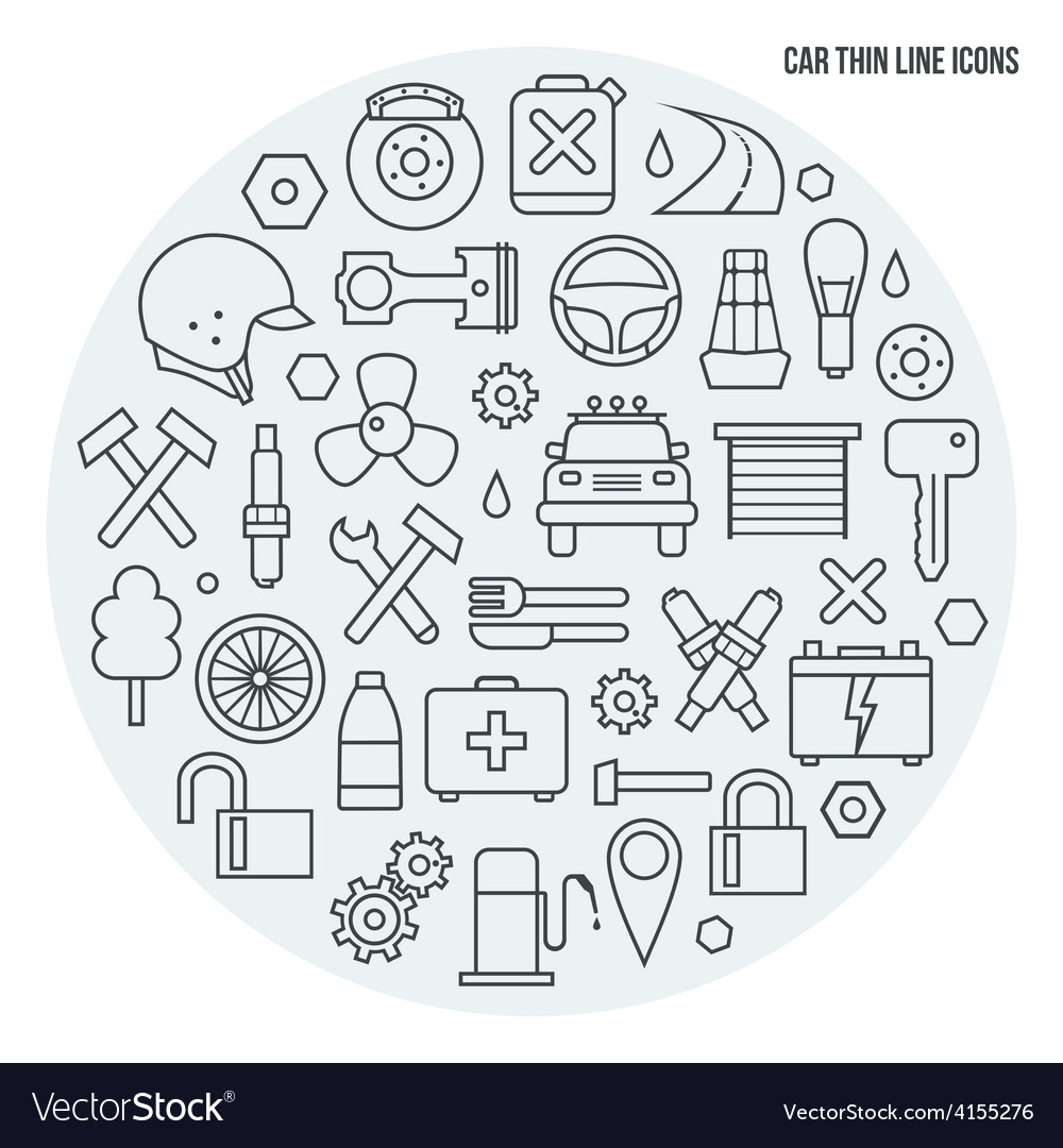 Auto service icons set vector   Price: 1 Credit (USD $1)