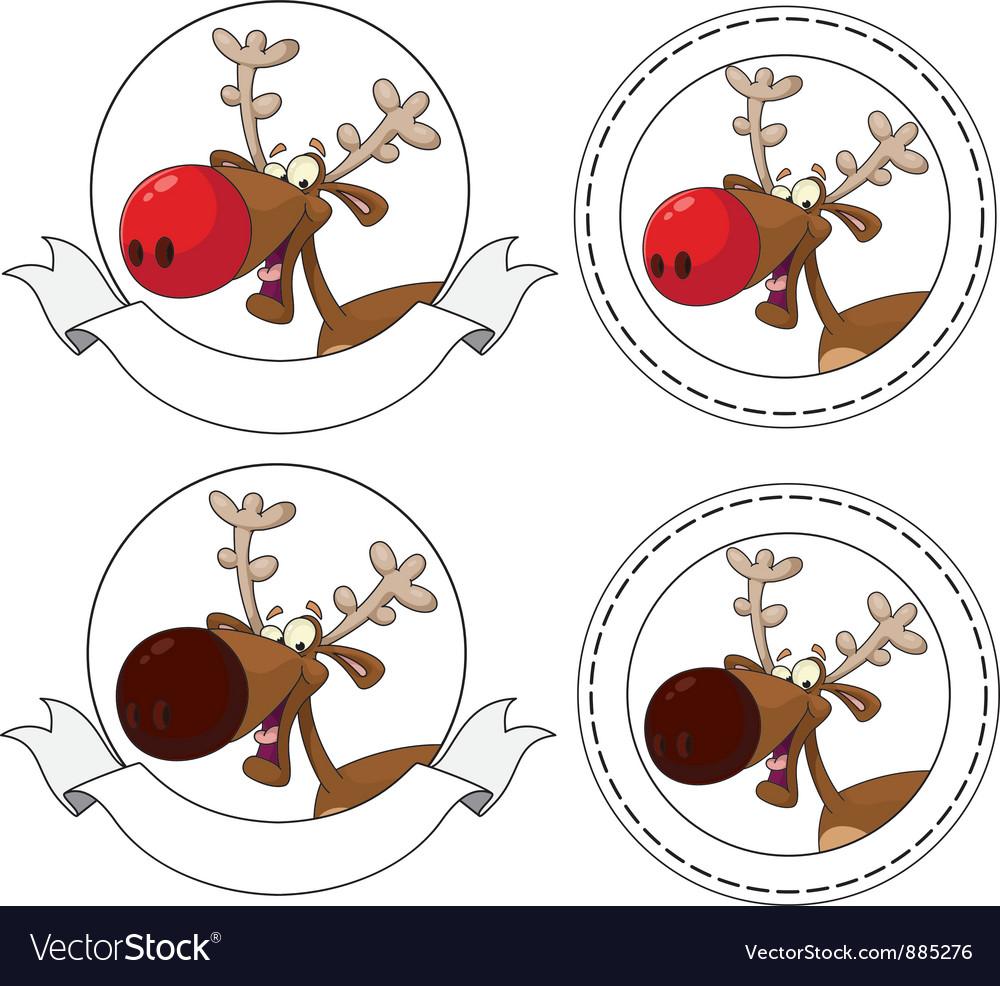 Deer head banner vector | Price: 3 Credit (USD $3)