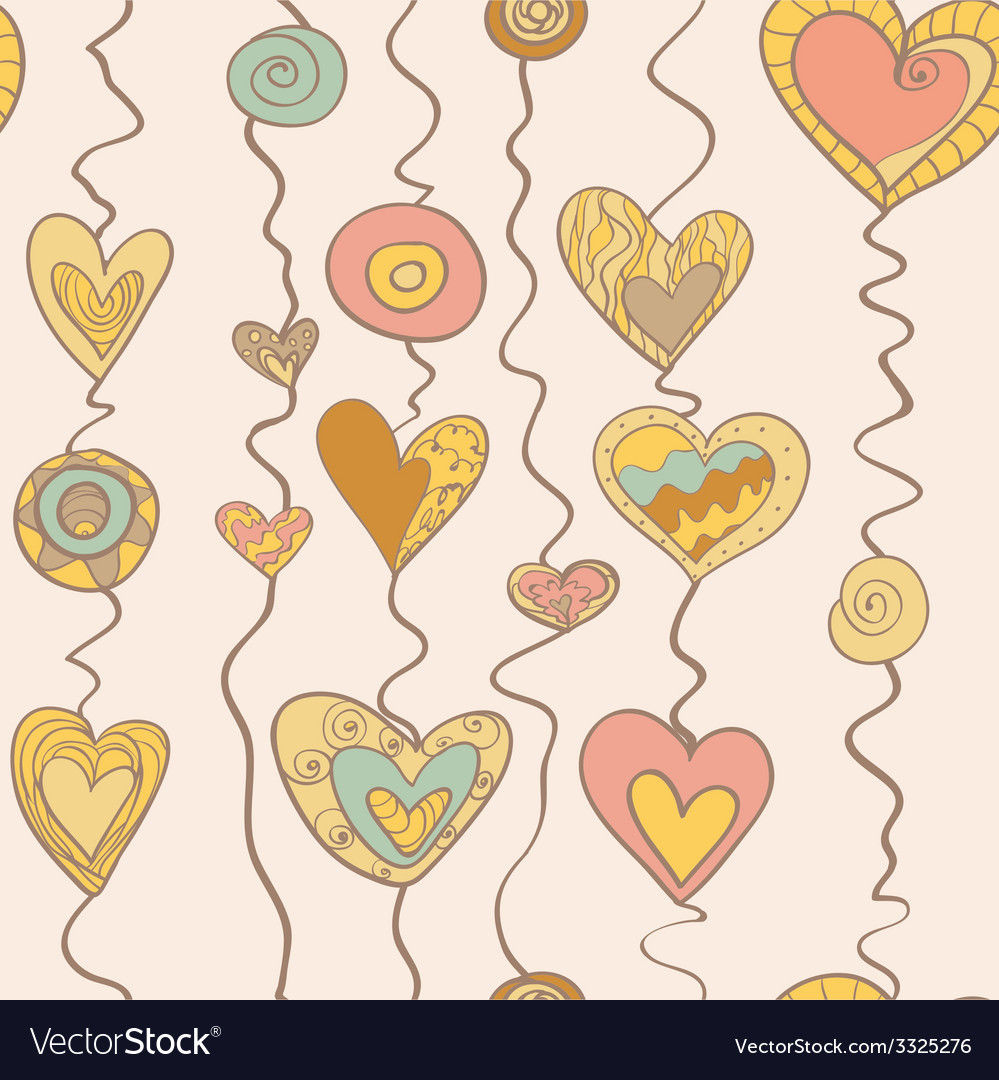 Heart on stripe vector | Price: 1 Credit (USD $1)