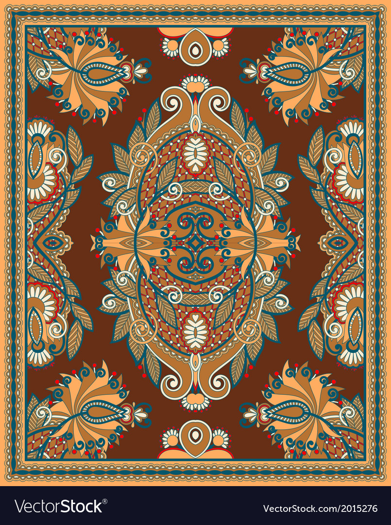 Ornamental seamless carpet design vector | Price: 1 Credit (USD $1)
