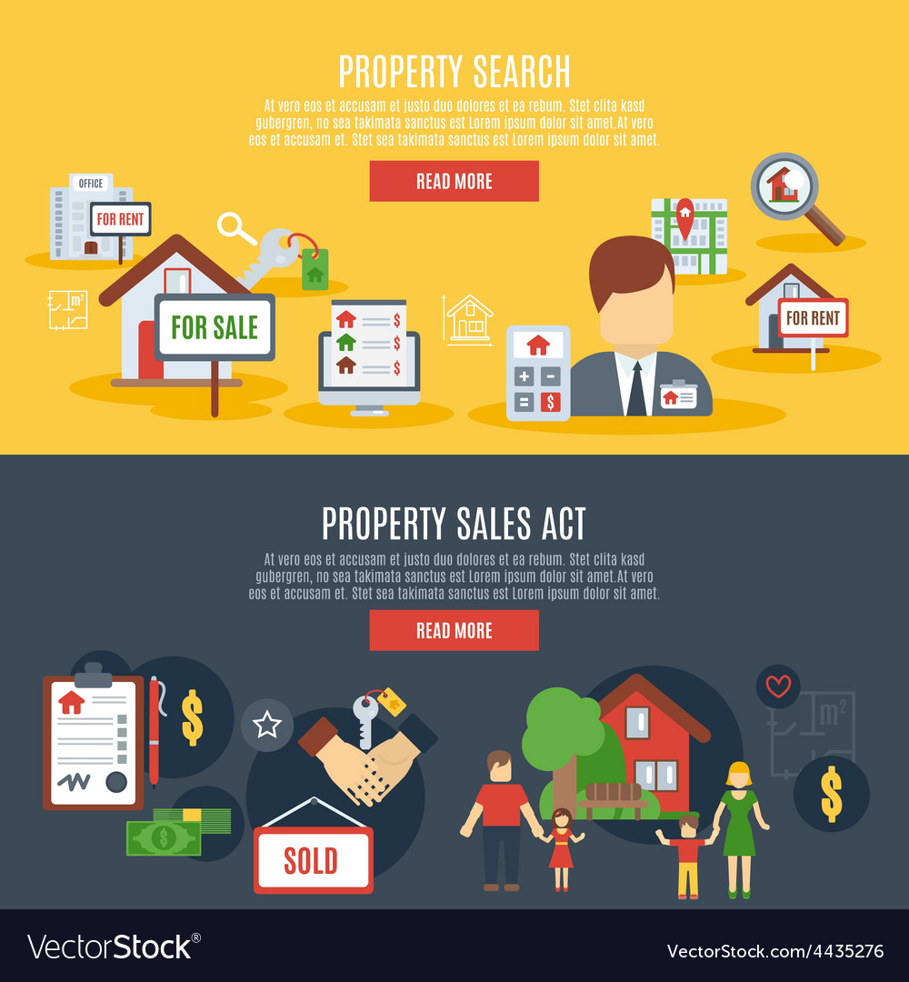 Real estate banner vector | Price: 1 Credit (USD $1)