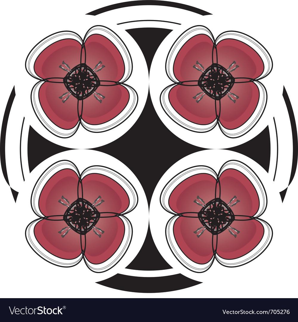 Red dramatic flower desgin vector | Price: 1 Credit (USD $1)