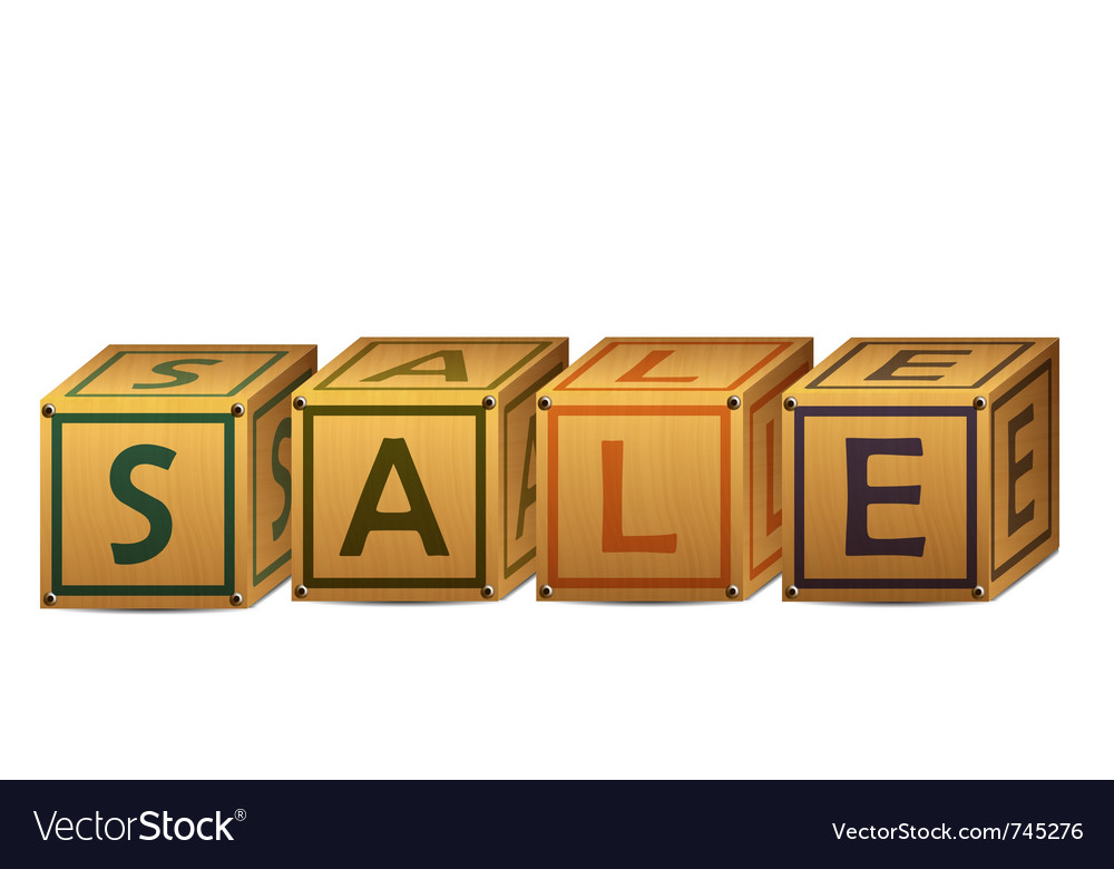 Sale alphabet letter boxes vector | Price: 1 Credit (USD $1)