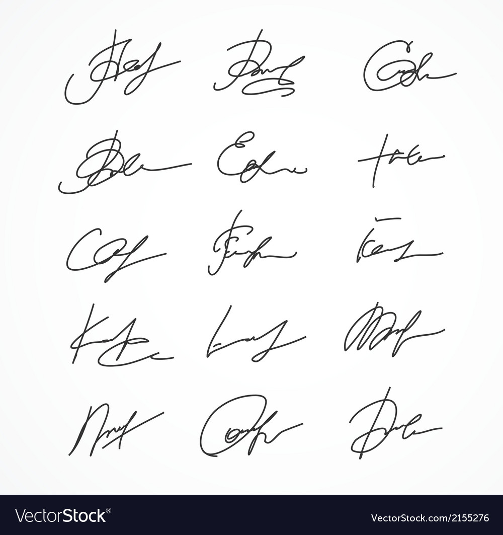 Signature fictitious autograph vector | Price: 1 Credit (USD $1)