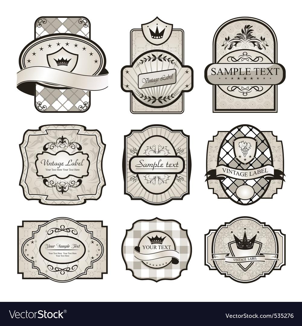 Vintage labels vector   Price: 3 Credit (USD $3)