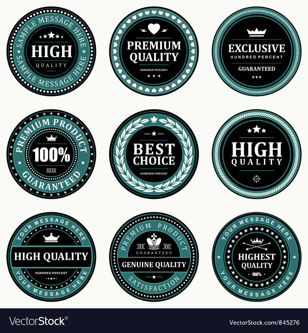 Vintage stickers and labels vector | Price: 3 Credit (USD $3)