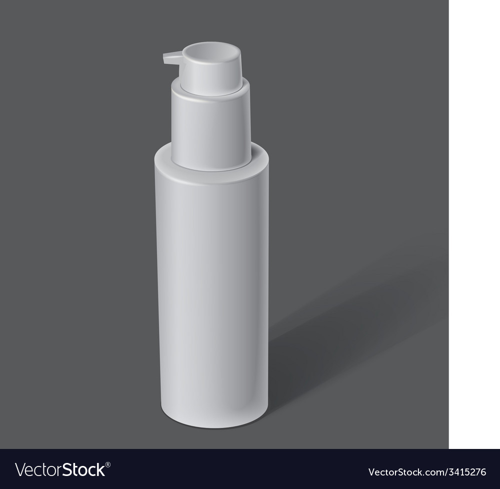 White cosmetics containers vector | Price: 1 Credit (USD $1)