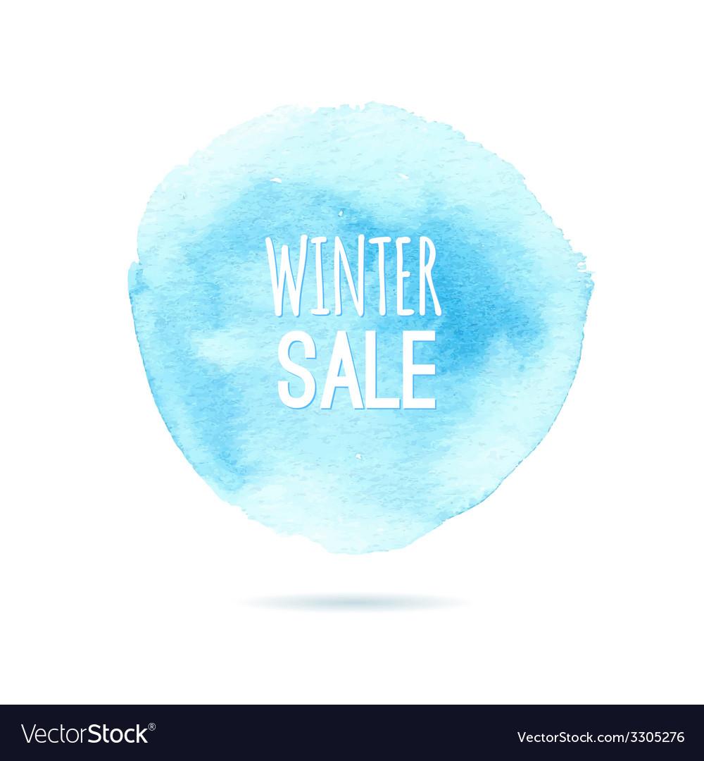 Winter sale background watercolor vector | Price: 1 Credit (USD $1)