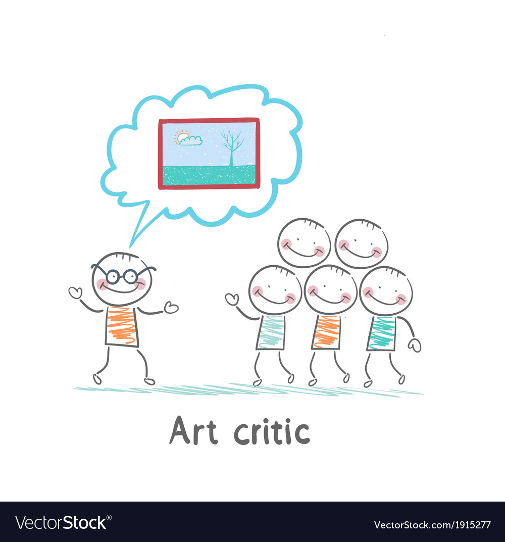 Art critic tells people about the picture vector | Price: 1 Credit (USD $1)