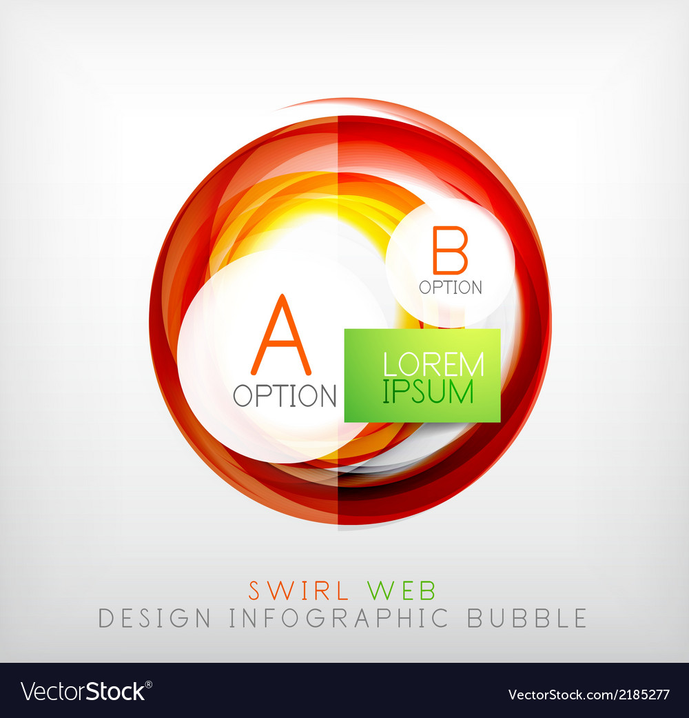 Circle web design bubble  infographic elements vector | Price: 1 Credit (USD $1)