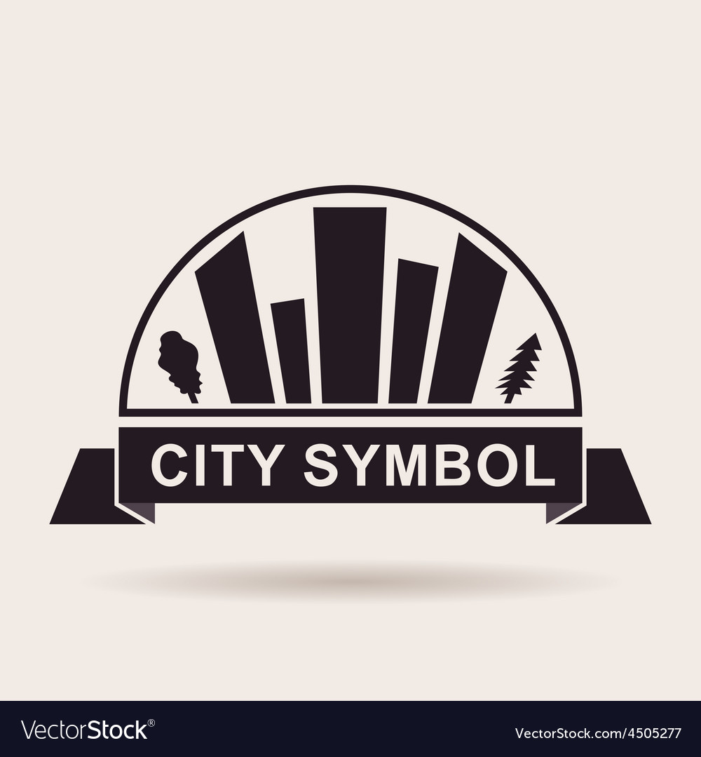 City logo buildings silhouette icon vector | Price: 1 Credit (USD $1)