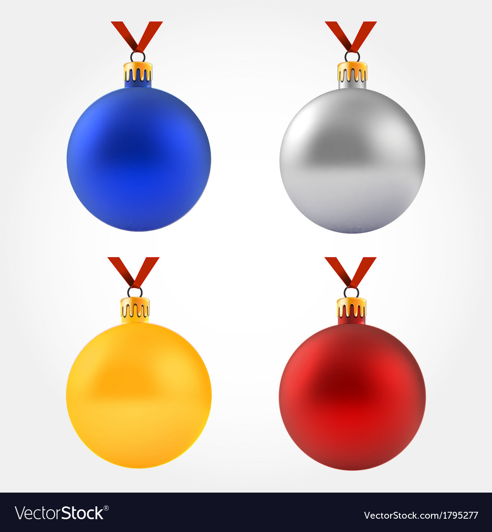 Collection of balls on ribbon vector   Price: 1 Credit (USD $1)