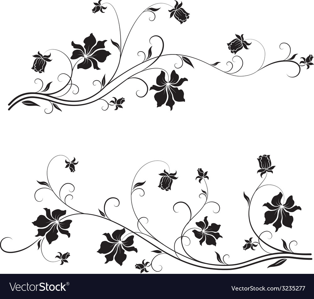 Flower design element vector | Price: 1 Credit (USD $1)