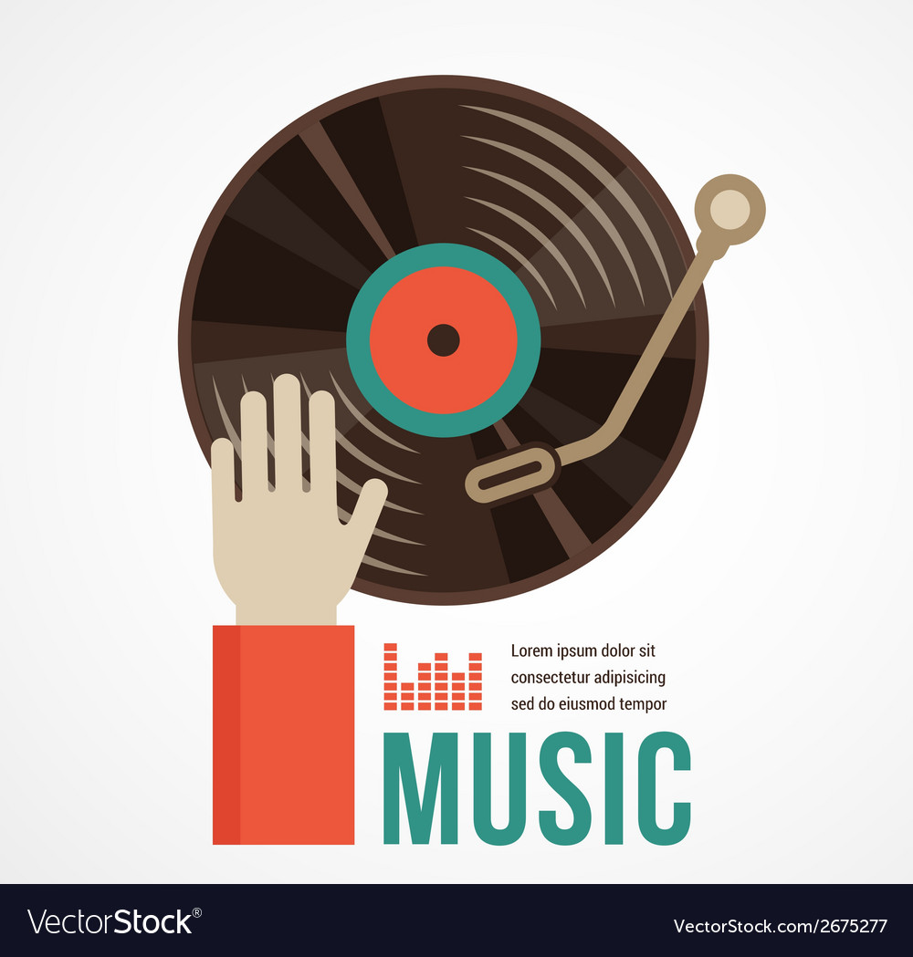 Music and city landscape background vector | Price: 1 Credit (USD $1)
