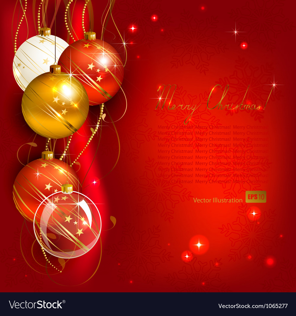 Red christmas background vector | Price: 3 Credit (USD $3)