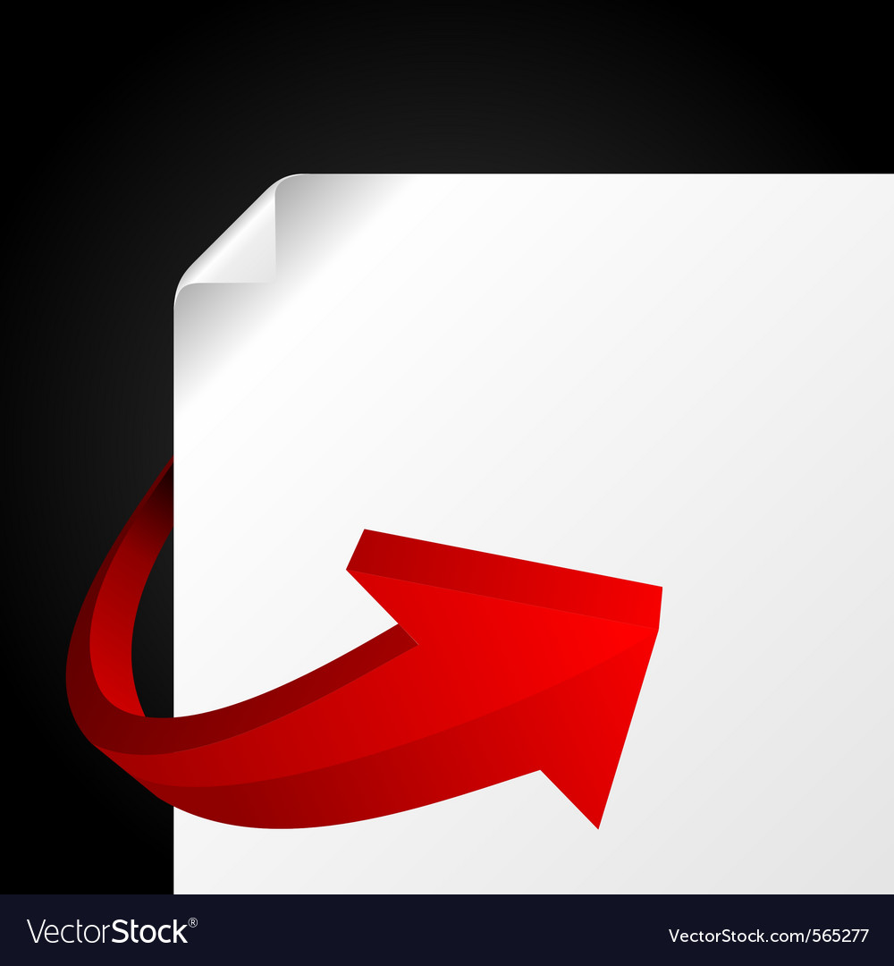 Red graph arrow vector | Price: 1 Credit (USD $1)