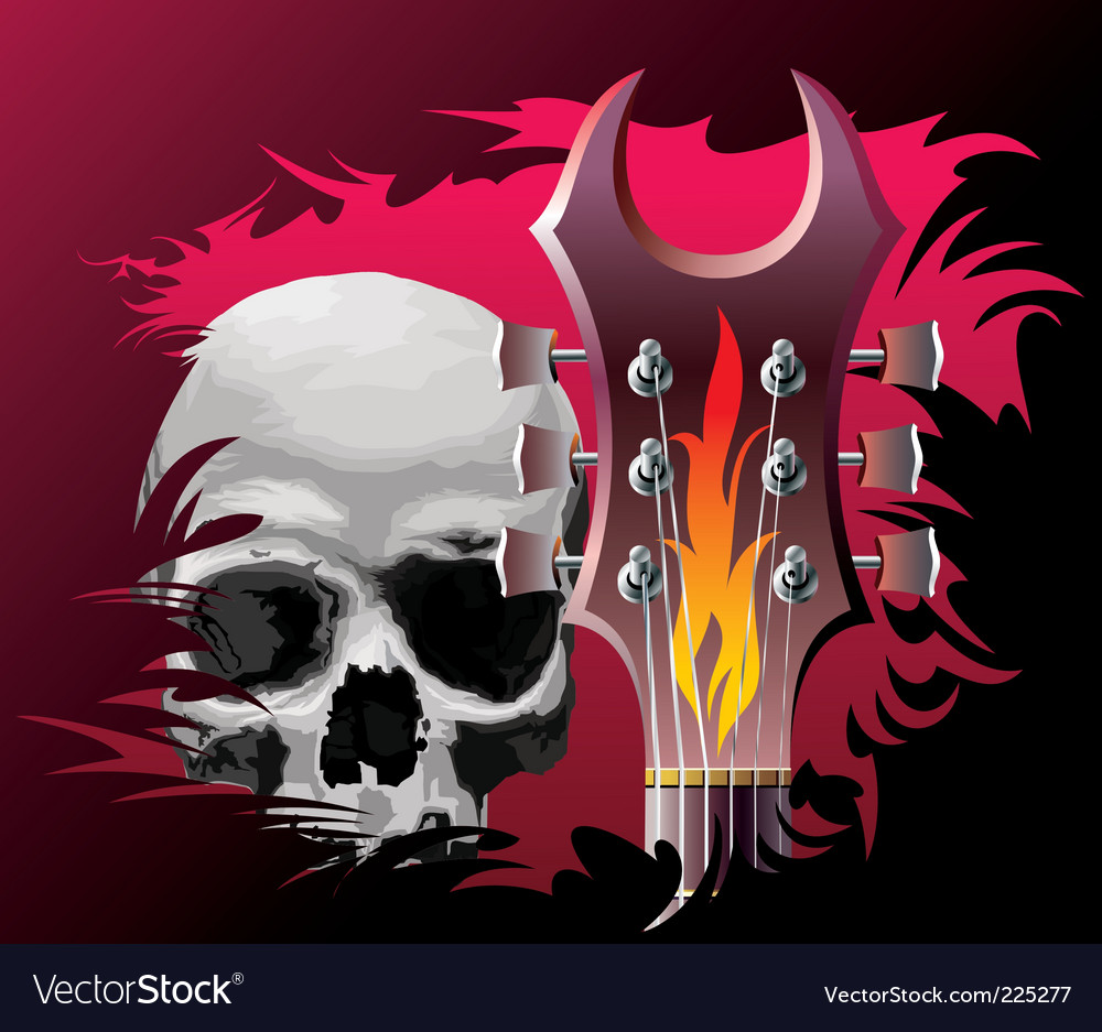 Rock music background vector | Price: 3 Credit (USD $3)