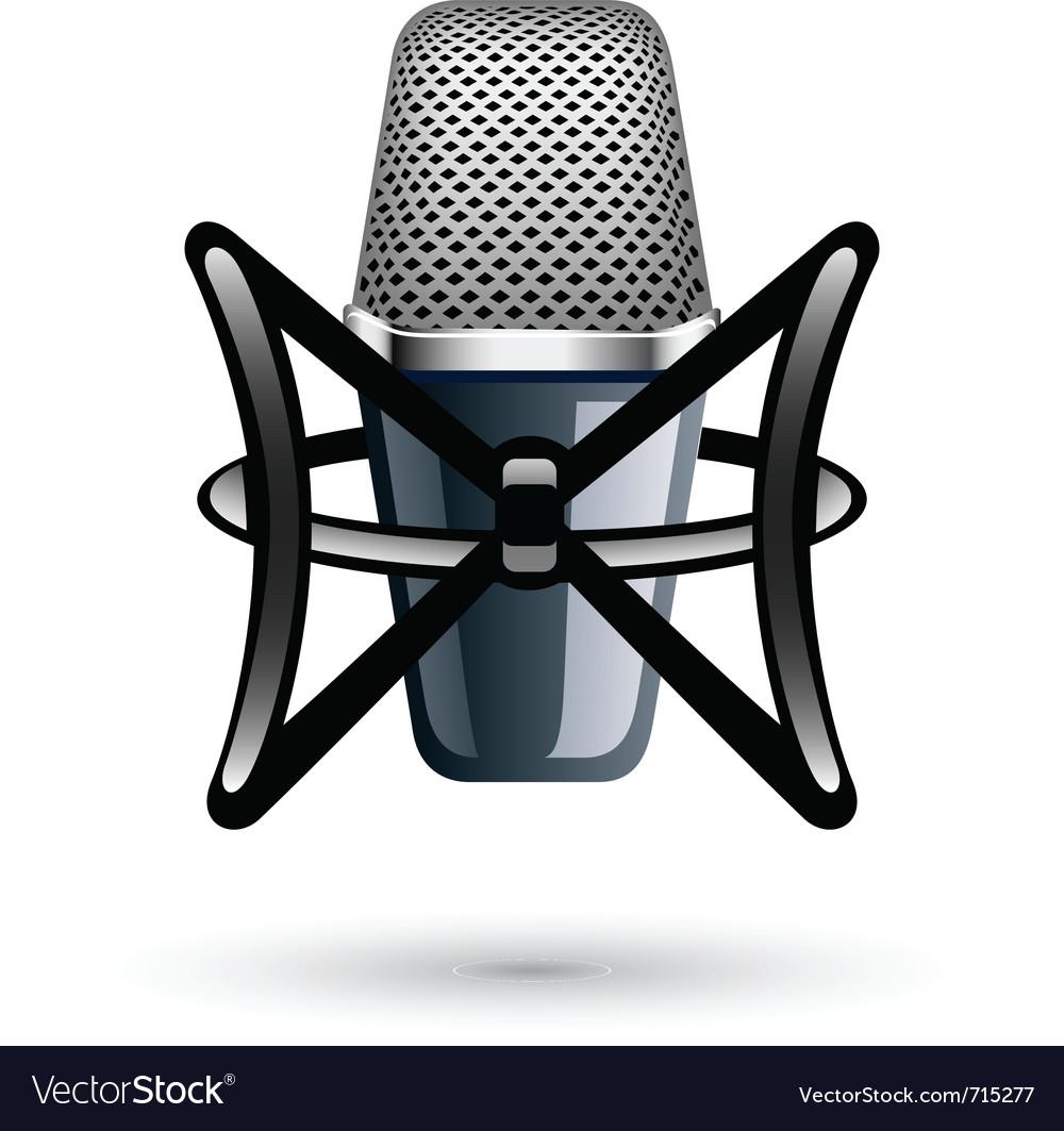 Studio condenser microphone vector | Price: 3 Credit (USD $3)